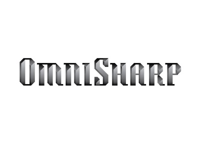 OmniSharp Logo branding cut typography blade edges angular sharpening knives logo sharp