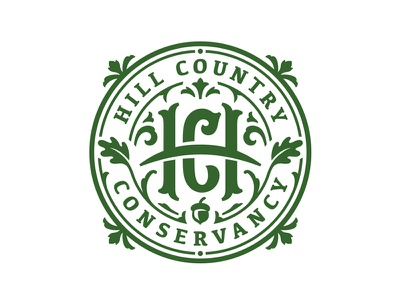 Hill Country Conservancy Logo acorn oak texas branding crest badge conservancy nature leaf logo country hill
