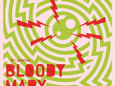 Bloody Mary Morning Poster crazy concert sxsw line art maze eyeball color electric lightning bloody mary poster poster art