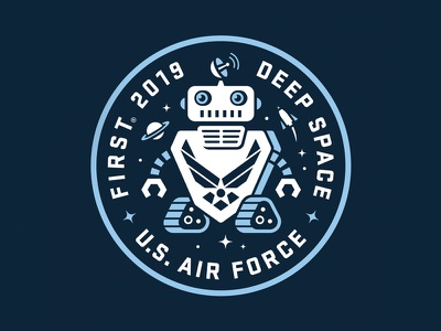 STEM USAF badge for kids competition math engineering logo space science and technology usaf robotics robot kids science badge stem