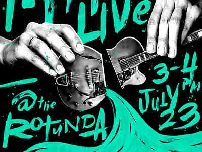 Angie McMahon Poster type illustration design typography band gig poster brush lettering brush guitar music handlettering poster