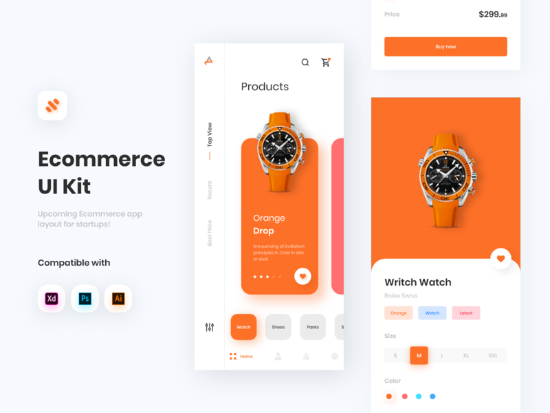 Ecommerce app UI Kit app concept ios app design app design minimal ui design ux design interface design ui ecommerce design ecommerce app ecommerce