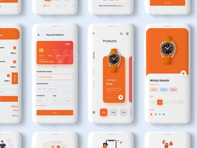 Ecommerce App UI Kit app ux app ui ui kits app concept ios app design shopping app shopify ecommerce app app design ux design ui design interface design ui