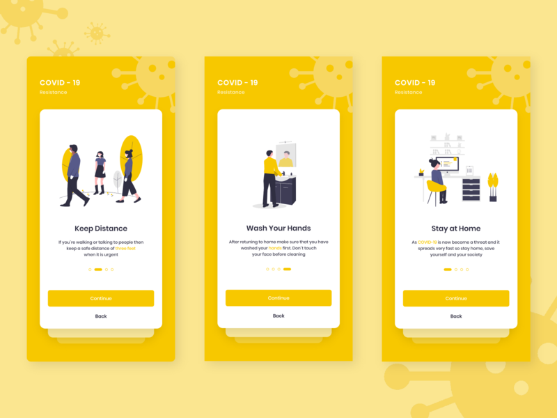 COVID-19 Medical App Ui Kit illustration onboarding ui user interface design user experience user interface ios app design ux design ui design ui interface design app design health app medical app coronavirus covid19 covid-19