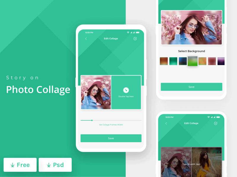 Photo Collage App attractive photoshop uiuxdesign uiux mobile app design photo collage design ux design modern app concept app design clean minimal ui design white space interface design ui colorful