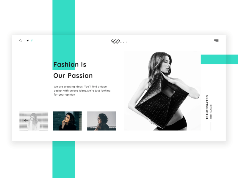 Warts - Fashion Webpage Hero Design attractive white space hero header hero interface design uiux ux design colorful modern clean ui design minimal ui design fashion blog fashion we website webpage web