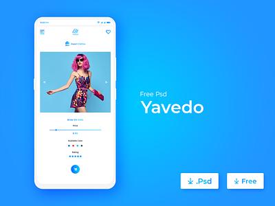 Ecommerce - Yavedo Mobile app shopify logo modern attractive white space ux designer design mobile app app concept app design app ux design ecommerce clean minimal ui design ui interface design colorful