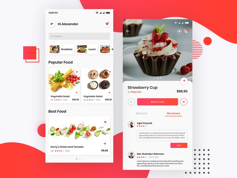 Dribbble Food App app concept mobile ui mobile app restaurant app food app uiux design uiux interface design app design ux design ui design ui