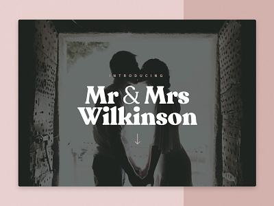 Mr & Mrs Wilkinson wedding website wedding photography wedding photography website web design landing page