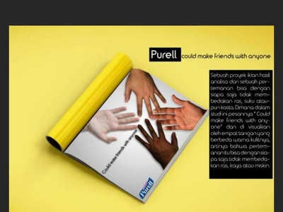 Purrel Print Ads