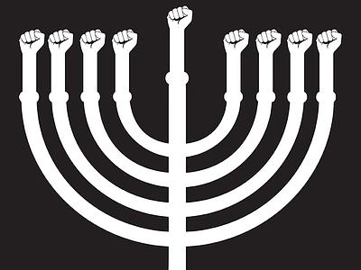 #ChanukahAction Signage jews jewish judaism hanukkah chanukah protest blacklivesmatter activism justice fist