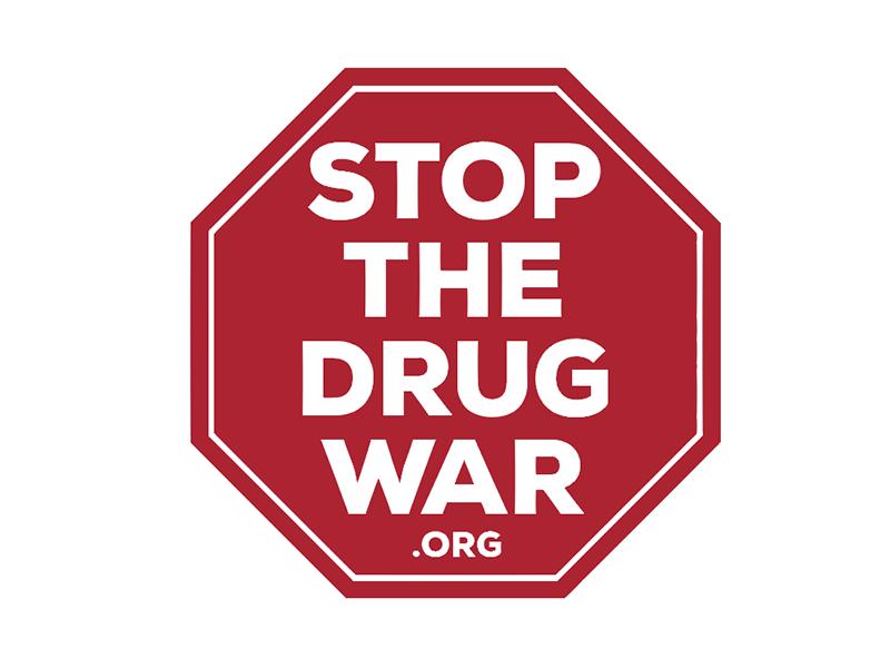 Stop The Drug War drugs drug war stop sign octagon