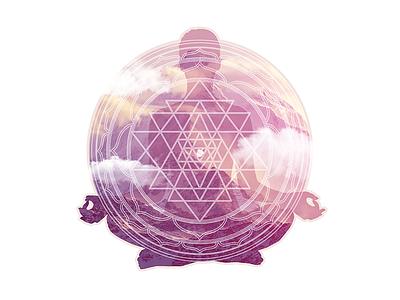 Entranced clouds mountain meditation yoga