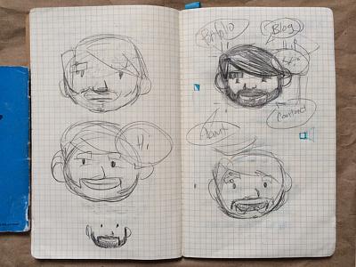 Self Promotional Logo Sketches logo self promo illustration sketches adffasd