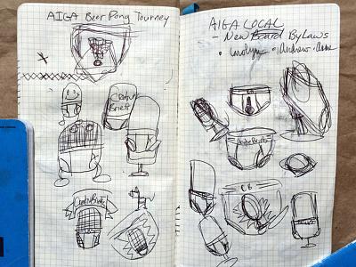 Briefs Sketches logo illustration sketches podcast