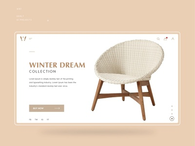 E-commerce Furniture UI Design