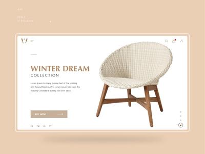 E-commerce Furniture UI Design