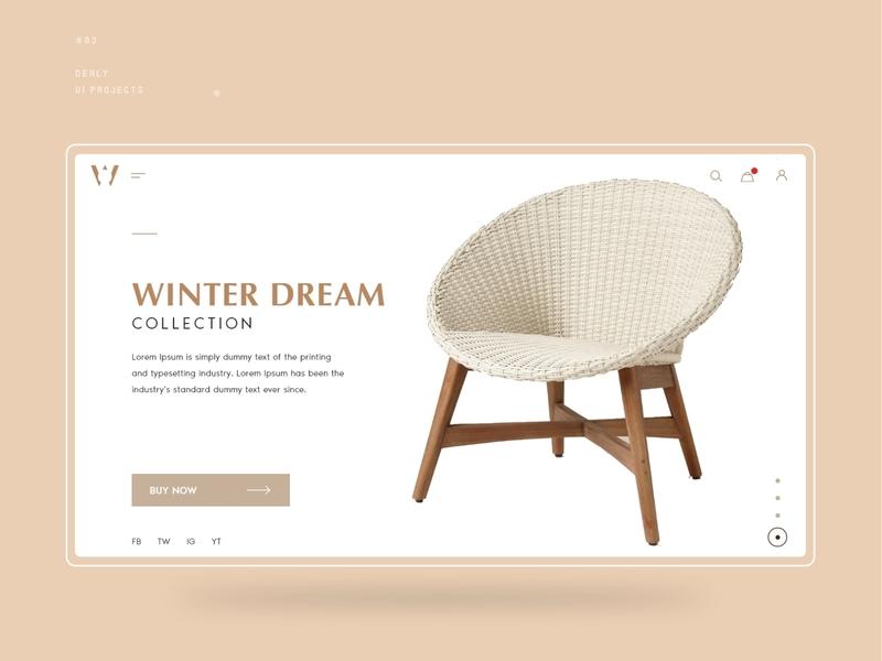 E-commerce Furniture UI Design unique ui design furniture ui ux design furniture ui design furniture design