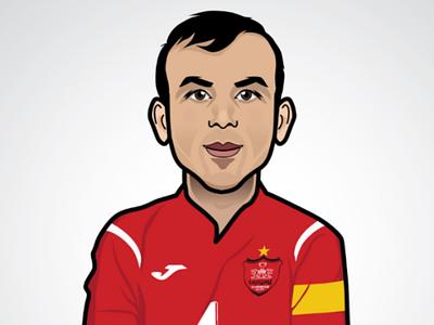 Seyed jalal vector art soccer persepolis character cartoon art vector vectorart illustrator illustration