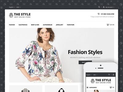 The Style - Fashion StoreTemplate ecommerce design prestashop shoes accessories women men fashion