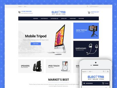 Electra StoreTemplate codezeel ecommerce themes kitchen electronics prestashop