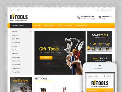 Tools - Online Store Template codezeel ecommerce themes tools bikes cars spare parts auto parts prestashop