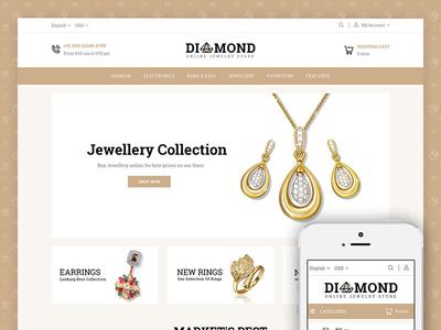 Diamond Jewelry Store Template codezeel ecommerce themes fashion diamond jewelry prestashop