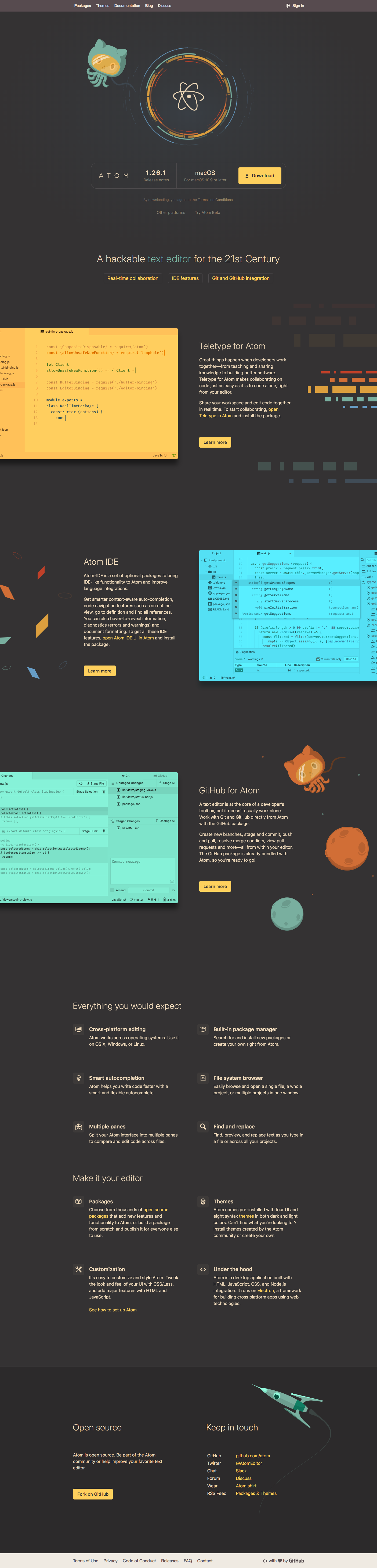 GitHub / Projects / Atom | Dribbble