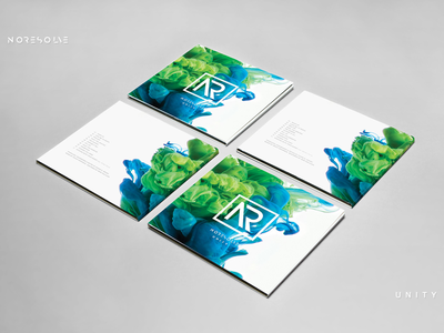 No Resolve - Unity Album Artwork print layout album art green blue negative space ink artist band music identity logo