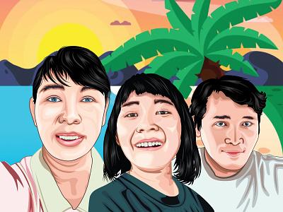 Asmara 01 01 artist people illustration family tracing face vector