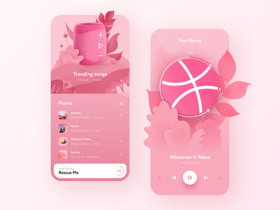 Music App ui ux procreate illustraion music mobile app design mobile app sound music player music app