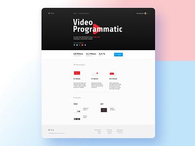 Landing for programmatic addon webdesign advertising platform addons programmatic website web ui ux landing design