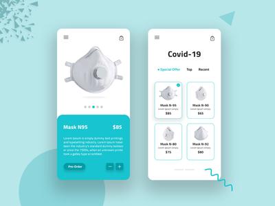 Covid-19 app concept