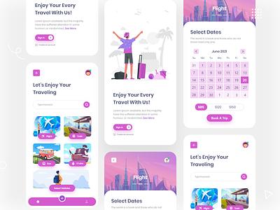 Travel App Concept travel app concept travel app travel concept mobile app ui kit app
