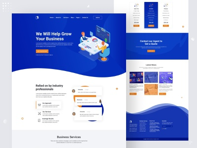 Business Agency Landing Page business agency page business branding ux ui landing page business agency website
