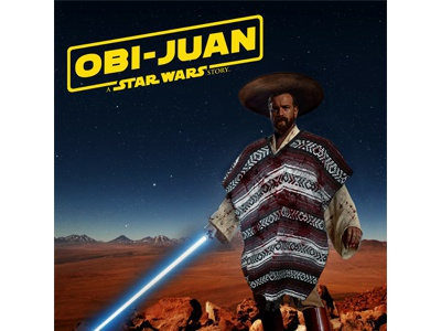 TFW you take an idea past the point of no return photoshop obi wan obi juan logo vector design star wars