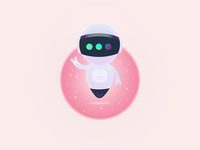 Astro Inspiration inktober inktober 2018 skech star illustration design dribbble gradient flying stars pink astrobot astroboy flat adobe illustrator