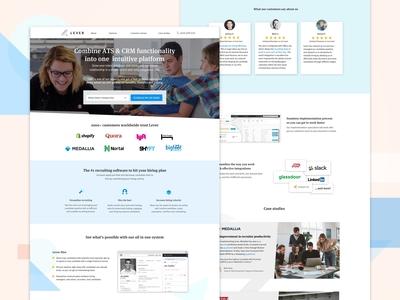 Lever Hr Landing Page Design