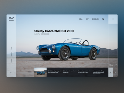 Product page for auction — Daily Inspiration 06 clean car grid system grid design grid layout landing big background images web ui minimalistic daily inspire