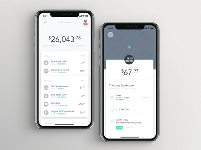 Bank app — Daily Inspiration 14 bank app bank design typography ux app daily inspire clean ui minimalistic