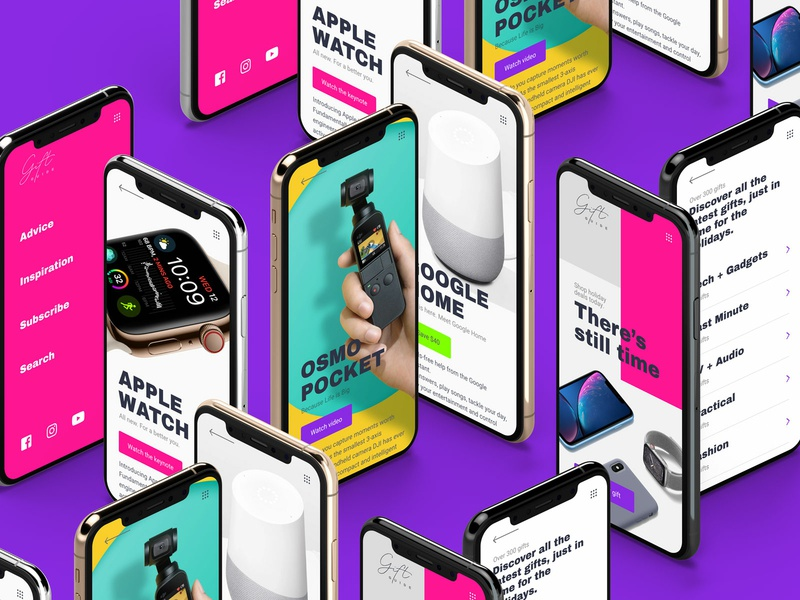 Gifts Guide — Daily Inspiration 17 e-commerce carousel colorful web app ui interaction daily inspire clean ui minimalistic adobe xd xd merry christmas merrychristmas xmas