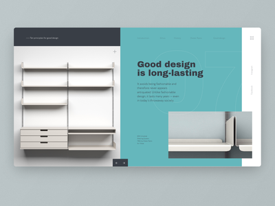 Ten principles for good design — Daily Inspiration 22 grid-system grid layout grid design grid big background images web daily inspire minimalistic vitsoe gooddesign braun rams dieterrams