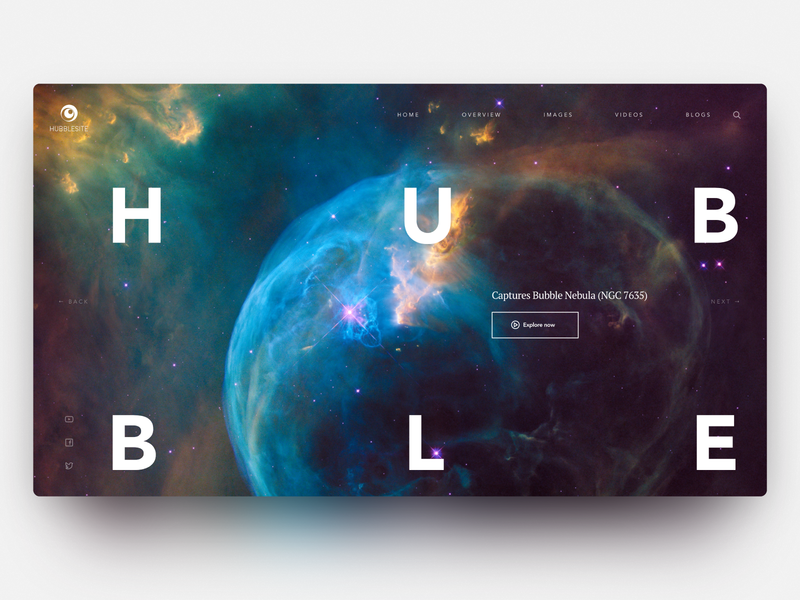 Daily Inspiration 27 colorful carousel grid layout grid adobe xd big background images design web daily inspire clean ui minimalistic