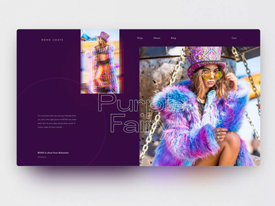Prism parallax main page — Daily Inspiration 30 chromatic prism parallax e-commerce grid design colorful grid layout grid adobe xd clean daily inspire ui interaction animation web interaction minimalistic