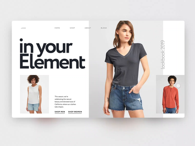 E-commerce product page grid web e-commerce grid design carousel grid layout adobe xd big background images ui interaction interaction ui animation clean minimalistic daily inspire