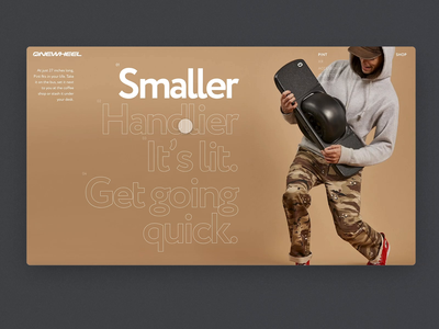 Product page — Daily Inspiration 32 promo motion product page e-commerce typogaphy interaction homepage carousel design grid layout grid adobe xd big background images animation minimalistic daily inspire clean web