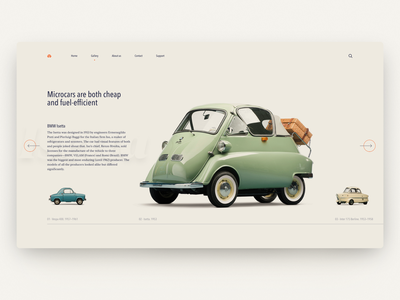 Microcars — Daily Inspiration 37 figma carousel interaction design grid big background images web ui daily inspire clean minimalistic