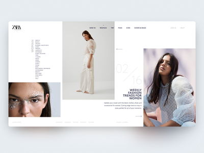 Combine grids — Daily Inspiration carousel lookbook broken-grid fashion figma grid web clean daily inspire minimalistic