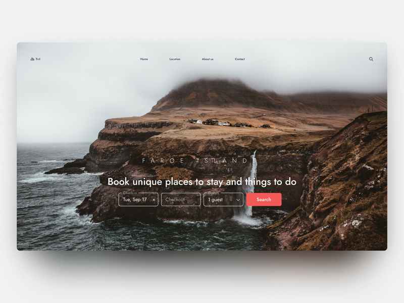 Travel guides — daily inspiration 42 figma grid layout grid big background images ui web daily inspire clean minimalistic