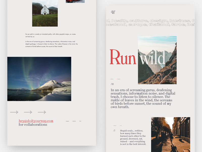 The personal blog — daily inspiration 46 blogpost blog grids figma grid layout big background images grid web daily inspire clean minimalistic